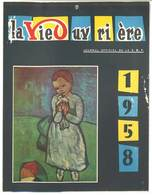 Calendrier 1958 ( En Papier Cartonné ) : La Vie Ouvrière 1958 ( Journal Officiel De La C.G.T. ) - Calendriers