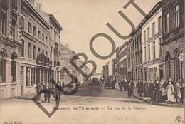 Postkaart - Carte Postale TIENEN/Tirlemont La Rue De La Station - Stationsstraat  Tram! (K21) - Tienen