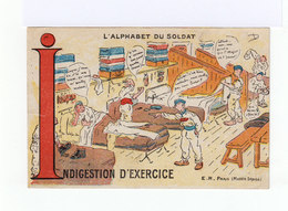 L'alphabet Du Soldat. Indigestion D'exercice. (3197) - Manoeuvres