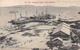 Malaya - Topo / 13 - Penang - Wharf And Harbour - Malaysia