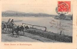 Malaya / 02 - River Scene At Kualakangsa - Malaysia