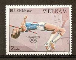 1983 - Jeux Olympiques à Los Angeles - Saut En Hauteur -  N°438 - Viêt-Nam