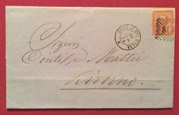 ALTI FORNI DELLA VAL D'ELSA DI STEFANO MASSON LETTERA 8/4/1871 DEL CAMBIO NOME CON FIRMA AUTOGRAFA DI MASSON - Storia Postale