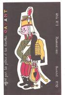 Buvard Pâtes Et Biscottes GAYANT Série N°1 Hussard (1800) Buvard N°10 - Alimentaire