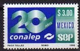 Mexique.  College National D'Education Professionnelle Technique. 1 T-p Neuf ** 1999 - Mexique