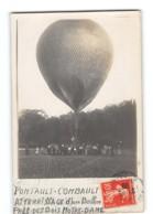 CPA 77 Carte Photo Environs De Pontault Combault Atterissage D'un Ballon Près Des Bois Notre Dame - Pontault Combault