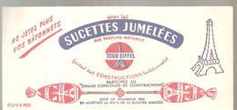 Buvard Ne Jetez Plus Vos Bâtonnets Avec Les Sucettes Jumelées Aux Parfums Naturels Tour Eiffel - Sucreries & Gâteaux