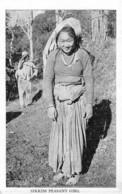 Sikkim / 02 - Sikkim Peasant Girl - Postcards