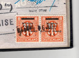 WW2 Occupation Interalliée: AMG Military Travel Permit ( Y Et T TR4) Sur Passeport United Kingdom1946  Voir Nbx  Scans - Fiscaux