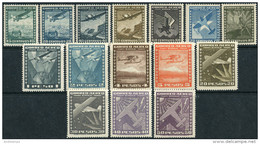 Chile 1934/35. Michel #200/19a VF/MNH. Airplanes. Lot (Ts27) - Chili