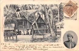 Singapour / 19 - Malay Houses At Tanjong Kattong - Belle Oblitération - Singapour