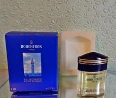 """Miniature """"BOUCHERON POUR HOMME""""  D'e BOUCHERON Eau De Toilette 5 Ml Dans Sa Boîte (M76-3) - Miniatures Hommes (avec Boite)"""