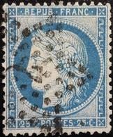 FRANCE Y&T N°60A Cérès 25c Bleu. Oblitéré étoile De Paris N°2 - 1871-1875 Ceres