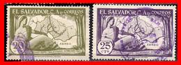 EL SALVADOR 2 SELLOS DEL AÑO 1956 - El Salvador