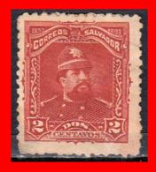 EL SALVADOR  SELLO DEL AÑO 1893 - El Salvador