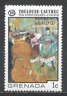 Grenada 1976. Scott #740 (MNH) Start Of The Quadrille, By Toulouse-Lautrec * - Grenade (1974-...)