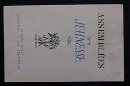FRANCE - Document De L 'assemblée De La Jeunesse -  L 20962 - Vieux Papiers