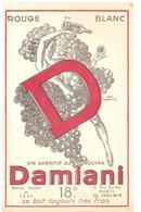 Buvard Damiani Rouge Ou Blanc Vin Apéritif Au Quinquina Damiani 18° - Liqueur & Bière
