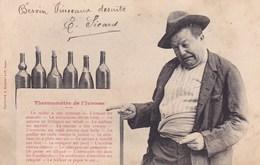 Carte Photo Homme Ivre Thermometre De L Ivresse Bergeret 1904 Ode A L Alcool - Humor