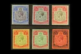 1918-22 KGV Wmk Mult. Crown CA, High Values Set, SG 51b/55, Very Fine Mint (6 Stamps). For More Images, Please Visit Htt - Bermudes