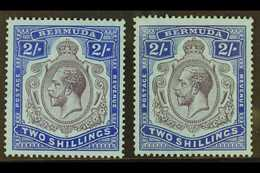 1924-32 2s, The Two Shades, SG 88 & 88g, Fine Mint. (2) For More Images, Please Visit Http://www.sandafayre.com/itemdeta - Bermudes