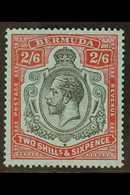 1924-32 2s.6d Black And Carmine On Pale Blue, SG 89, Fine Nhm. For More Images, Please Visit Http://www.sandafayre.com/i - Bermudes