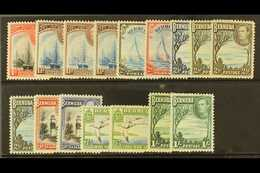 1938-52 1d To 1s, The Complete SG Listing Of Shades, SG 110/115a, Fine Mint. (16) For More Images, Please Visit Http://w - Bermudes