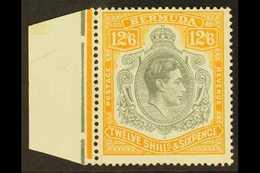 1940 12s.6d Grey And Pale Orange, SG 120b, Fine Nhm Marginal Example. For More Images, Please Visit Http://www.sandafayr - Bermudes