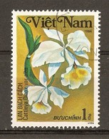 1984 - Orchidées - Cattleya Dianx Var Alba - N°501 - Viêt-Nam