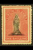 1868 1s Black And Rose Carmine On White Paper, SG 21 (position 13), Fine Mint, Signed Brun. For More Images, Please Visi - Iles Vièrges Britanniques