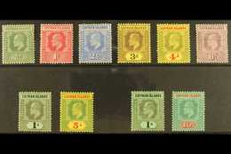 1907-09 Set Complete, Both Wmks, SG 25/34, Fine Mint (the 1s SG 33 With Toned Perf) 10 Stamps For More Images, Please Vi - Cayman Islands