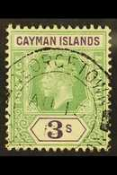 1912-20 3s Green & Violet, SG 50, Fine Cds Used For More Images, Please Visit Http://www.sandafayre.com/itemdetails.aspx - Iles Caïmans