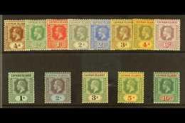 1912-20 Wmk Multi Crown CA Set Complete, SG 40/52, Very Fine Mint, The 3s Toned (13 Stamps) For More Images, Please Visi - Iles Caïmans