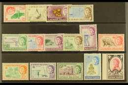 1962-64 Complete Definitive Set, SG 165/79, Never Hinged Mint (15 Stamps) For More Images, Please Visit Http://www.sanda - Iles Caïmans