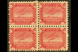 1893-1900 1s Deep Carmine Tern, SG 20a, Fine Mint Block Of Four. For More Images, Please Visit Http://www.sandafayre.co - Cook