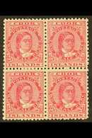 1893-1900 2½d Rose-carmine Queen, SG 8a, Scarce Mint Block Of Four With Large Part Gum, Light Paper Adherence And Few Sp - Cook