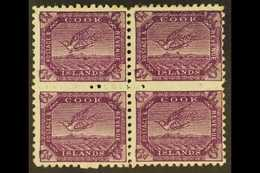 1900 6d Bright Purple Tern, SG 18a, Fine Mint Block Of Four, Incl. R1/9 Coloured Mark Below Bird. For More Images, Pleas - Cook