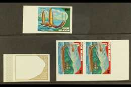 """1973 IMPERF PLATE PROOFS An Attractive Selection From The Maori Exploration Issue With ½c Gold Frame & Coloured """"Tipairu - Cook"""