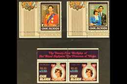 1987 (Feb) Surcharges On Royal Wedding And On Birthday Sets, SG 1124/27, Never Hinged Mint, Birthday As Se-tenant Pair,  - Cook