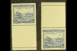 CARPATHO-UKRAINE 1939 3k Ultramarine Local Parliament (Michel 1, SG 393c), Never Hinged Mint Marginal Examples With Lowe - Tchécoslovaquie