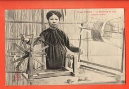 TRL-13 Tonkin La Dévideuse De Soie, Industrie Locale. Seiden.. ANIME. Indochine Française. Non Circulé - Vietnam