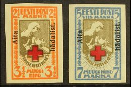 "1923 ""Aita Hadalist."" Charity Overprints Complete Imperf Set (Michel 46/47 B, SG 49A/50A), Very Fine Mint, Fresh. (2 Sta - Estonie"