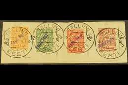 "TALLINN (REVAL) 1919 1k Imperf And 2k, 3k & 5k Perf With ""Eesti Post"" LOCAL OVERPRINTS (Michel 1 B &  2/4 A, SG 4p & 4b/ - Estonie"