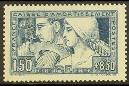 1928 1fr50+8fr50 Blue Sinking Fund, Yvert 252 Or SG 463, Fine Mint. For More Images, Please Visit Http://www.sandafayre. - France