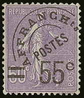PRECANCELS (PREOBLITERES) 1922-47 55c On 60c Violet, Yvert 47, Never Hinged Mint For More Images, Please Visit Http://ww - France