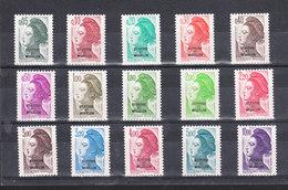 SAINT PIERRE ET MIQUELON YT 455 à 469 Série Marianne 15 TIMBRES Neuf ** - St.Pierre & Miquelon