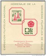 Chile 1969. Michel #701-Bl MNH/Luxe. Soccer. WM-74 (Ts22) - Chili