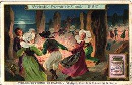 0980  Liebig 6 Cards- C1909- Old French Cusoms-Feux De St.Jean Bretagne-Tarasque-Dauphiné-Touraine- Les Rois - Liebig