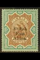"""1895-96 3r Brown And Green Of India Overprinted """"British East Africa"""", SG 62, Very Fine Mint. For More Images, Please Vi - Publishers"""