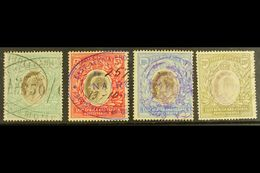 1904-7 4r, 5r, 10r & 20r Wmk Mult Crown CA, SG 29/32, Fiscally Used (4). For More Images, Please Visit Http://www.sandaf - Publishers